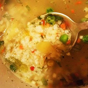 Суп рисовий овочевий