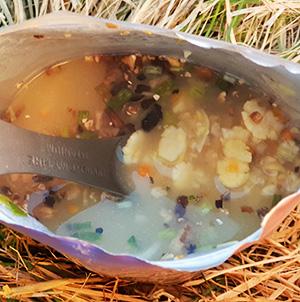 Суп гороховий з білими грибами