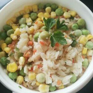 Рис с овощами. Еда в Поход